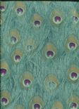 Jungle Club Wallpaper Parvani 41-Teal By Wemyss Covers Wallcoverings